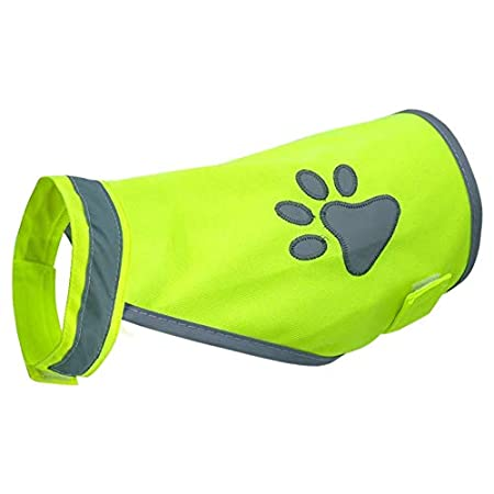 Haustier-Sicherheitsweste, hohe Sichtbarkeit für Outdoor-Aktivitäten Tag und Nacht, reflektierende Kostüme, Hunde-Brustgeschirr, verstellbar, Grün L Wie abgebildet