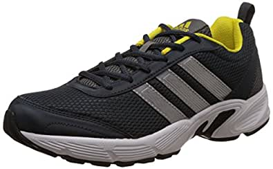 adidas Men's Albis 1.0 M Grey, Silver, Bright Yellow and Black Sport Running Shoes - 10 UK