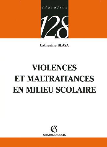 Violences et maltraitances en milieu scolaire