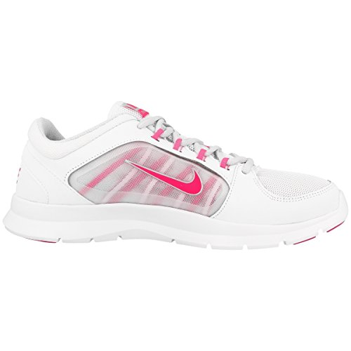 Nike Wmns Flex Trainer 4 - Sneaker per damen white-pink pow-pure platinum-metallic silver