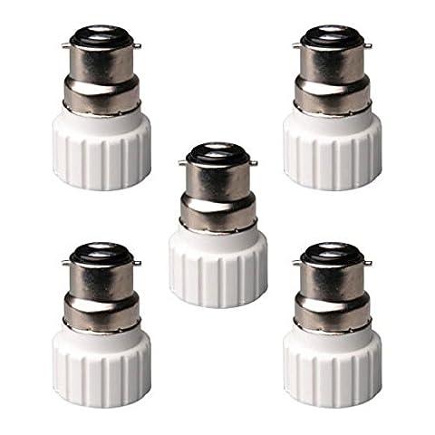 Sonline B22 to GU10 Lampe Ampoule Base de Douille Convertisseur Adaptateur 5 paquets
