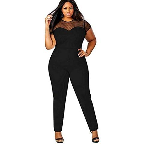 Oyedens Mujeres Bandage Bodycon Clubwear Romper Jumpsuit partido pantalones Plus Size