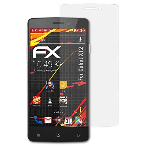 atFolix Schutzfolie kompatibel mit Cubot X12 Bildschirmschutzfolie, HD-Entspiegelung FX Folie (3X)