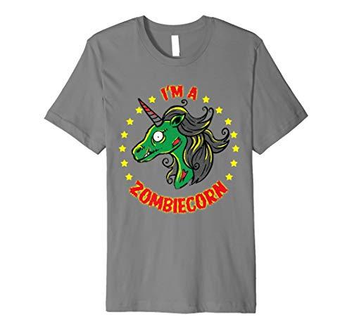 (Zombie Einhorn Halloween Shirt zombiecorn Kostüm T-Shirt)