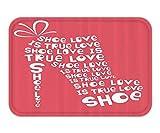 "LULABE Doormat QuoteDecor Set ""Shoe Love iTrue Love"