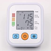 YHMMOO Tensiómetro de Brazo con Gran Pantalla LCD y Detección del Pulso Arrítmico Función ...