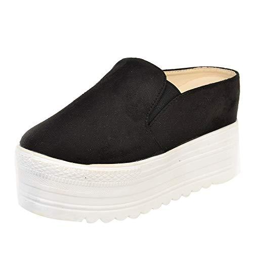 Sneaker A Collo Basso Donna Stampa Animalier Sneakers Scarpe per Il Tempo Libero Sandali con Bocca di Pesce Pantofole con Fondo Spesso Sandali in Spugna per Donna/Ragazza di Kinlene