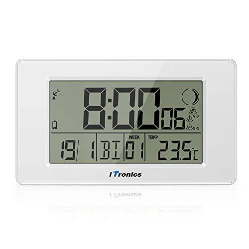 ITronics Reloj Radio Digital Pared Indicador Temperatura