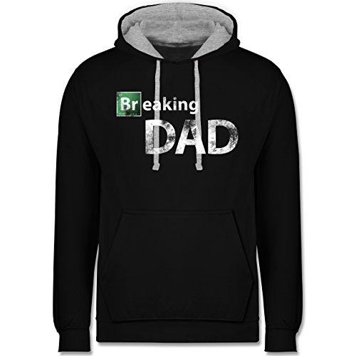 Vatertag - Breaking Dad - Kontrast Hoodie Schwarz/Grau Meliert
