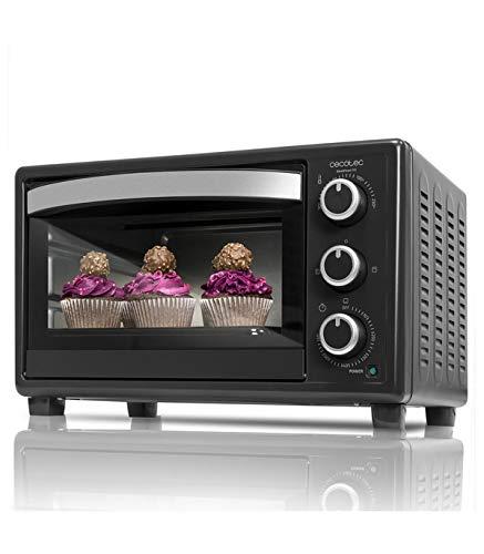 Cecotec Horno Conveccion Sobremesa Bake&Toast 590. Capacidad de 23 litros, 1500 W, 3 Modos, Temperatura...