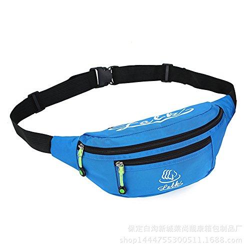 Wewod Multi-Purpose Nylon Dienstprogramm Hüfttasche Camping Wandern Tasche (Lila) Blau