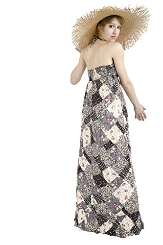Robe femme longue forme bustier imprimé LAVAND taille L fin de collection Bleu