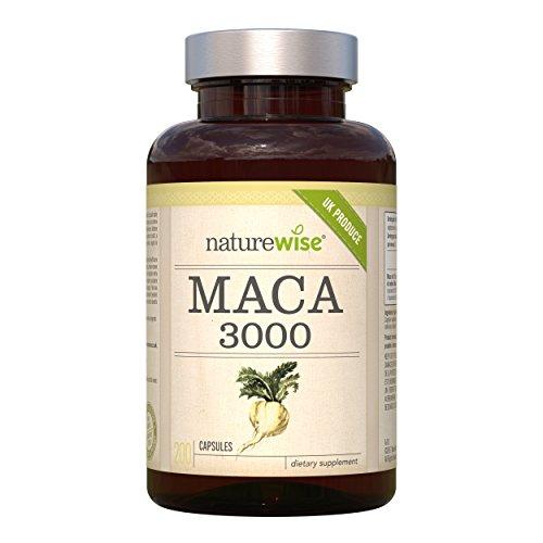 NatureWise Maca 3000, Maca Wurzel 3000 mg | 200 vegetarische Kapseln | 6.5 Monate Versorgung | steigert Libido und erhöht die Fruchtbarkeit, natürliche Potenzmittel, sofortwirkung und Konzentrationsmittel | 100% Geld-zurück-Garantie.