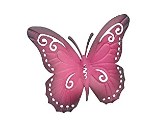 Gardman Pink or Turquoise Metal Butterfly Wall Art Garden Decoration from Gardman