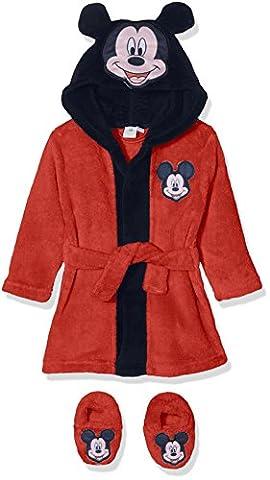 Disney Mickey Mouse Head, Robe de Chambre Bébé Garçon, Red, 24 Mois