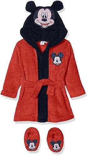 Disney Baby - Jungen Bademantel Mickey Mouse Head