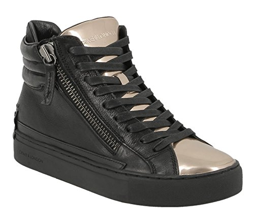 CRIME LONDON SCARPE PELLE 25384A16B NERO E ORO DONNA-40
