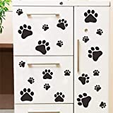 TYRO Cartoon Dog Cat Walking Paw Print Wall Stickers for Kids Rooms Decal Pet Room Decoration WallArt Bowl Car Home Decal Poster
