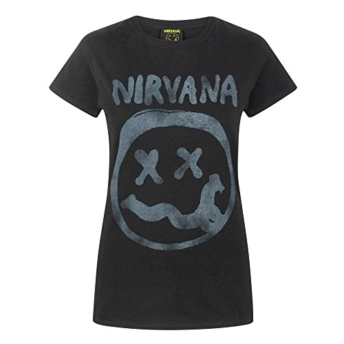 Nivana - T-Shirt à Logo Officiel - Femme (XL) (Noir)