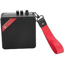 Dilwe 5W Mini Amplificador, Bluetooth Guitarra SD Card Input Altavoz Amplificador con USB & 9V