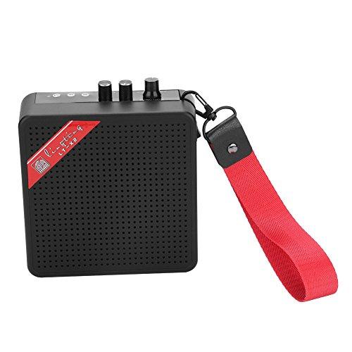 Dilwe 5W Mini Verstärker, Bluetooth Gitarre SD Karte Eingang Lautsprecher mit USB & 9V Batterie Netzteil