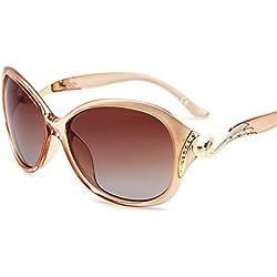 AMZTM überdimensioniert Polarisiert Damen Sonnenbrille Klassisch Strass Fahren Brille