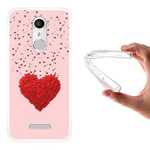 WoowCase Coolpad Torino S Hülle, Handyhülle Silikon für [ Coolpad Torino S ] Herzen Handytasche Handy Cover Case Schutzhülle Flexible TPU - Transparent