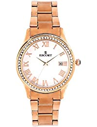 Escort Analog White Dial Women's Watch-2480 RGM