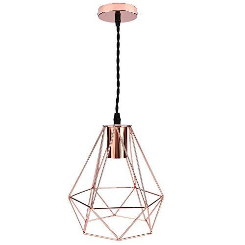 koulate - Lampada a Sospensione per Interni Moderna, lampadario in Metallo con Lampada sospesa Anti-deformazione di Lampada da soffitto in Gabbia