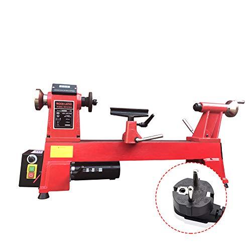 IDABAY Tornos de madera eléctricos Tornos de carpintero Tratamiento de madera Indicador LCD profesional Velocidad de giro no polar Longitud ajustable Comercial 550W 3800 rpm