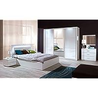 Schlafzimmer Komplett   Set A Zagori, 6 Teilig, Farbe: Alpinweiß / Weiß