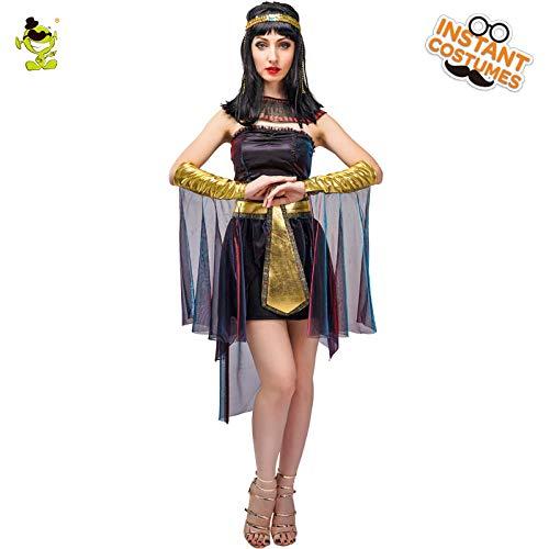 GAOGUAIG AA Purim Party Heißer Verkauf Damen Deluxe Ägyptische Königin Kostüm Erwachsene Sexy Ägypten Cleopatra Rollenspiel Phantasie SD (Color : Onecolor, Size : Onesize) (Sexy Kostüm Ägypten)