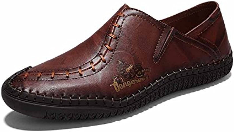GLSHI Mann zufälliger Loafer Beschuht Neue Britische Art Flache Schuhe 2018 Retro  Treibende Schuhe