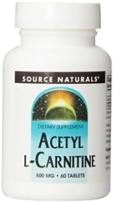 Source Naturals, Acetyl L-Carnitine, 500 mg, 60 Tablets from Source Naturals