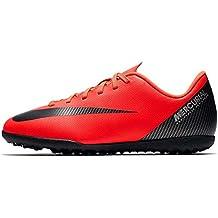 Nike Bota de Futbol CR7 Mercurial Vapor 12 Club GS Suela Turf Roja Niño