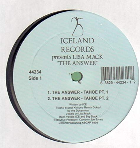 The Answer - Tahoe Pts. 1 & 2 / Kickone Remix / The Answer Tahoe Pt 2 [Vinyl Single 12''] -