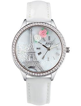 Didofà 3D Damen-Armbanduhr Analo