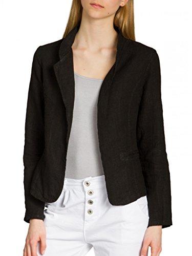 caspar bzr004 kurzer damen leinen sommer blazer farbe. Black Bedroom Furniture Sets. Home Design Ideas
