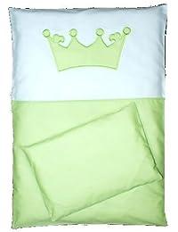 Parure de lit bébé Couronne–4pièces–135/100voile Parure de lit pour lit bébé 140/70cm