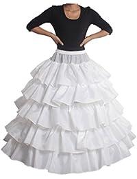 XYX Enaguas de la boda vestido de novia de crinolina enagua vestido de novia de la boda vestido de miriñaque enagua 4-anillo de 5 volante