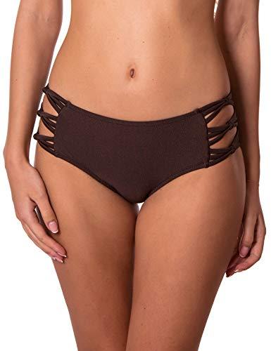 RELLECIGA Damen Bikinihose Strappy - Braun - Medium - Secret Größe Victoria Medium