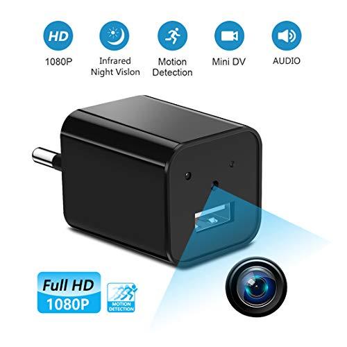 """Esta cámara funciona sin redes, lo que significa que esta cámara no tiene una función de """"video en vivo"""".   No puedes ver el video en vivo desde tu teléfono.   La forma más fácil de proteger su hogar y su negocio.   Use la mini cámara espía con..."""