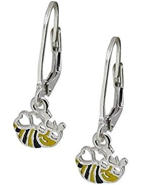 SL-Silver Ohrringe Kinderohrringe fliegende Biene 925 Silber