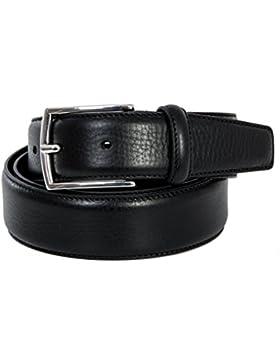 Cintura Uomo Nera in vera pelle Made in Italy 35mm