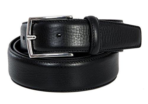 Cintura uomo nera in vera pelle made in italy 35mm (105cm girovita – 120cm lunghezza totale)