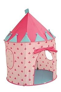 roba 69004  - Tienda con forma de castillo (poliester con estructura de fibra de vidrio, 105 x 135 cm), color rosa y azul importado de Alemania