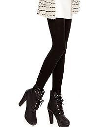 Vococal® Femmes Mesdames automne hiver épais chaleureux brossé ligné thermique extensible collants foulent pieds Leggings pantalon