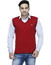 "ZAKOD Sleeveless Regular Fit Sweater for Men,100% Wool Sweater, Sweater, M=38"",L=40"",XL=42"""