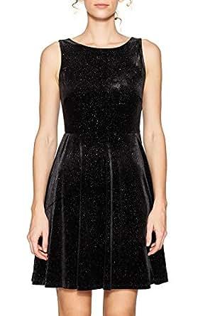 ESPRIT Damen Kleid 117EE1E007, Mehrfarbig (Black 001), X-Small