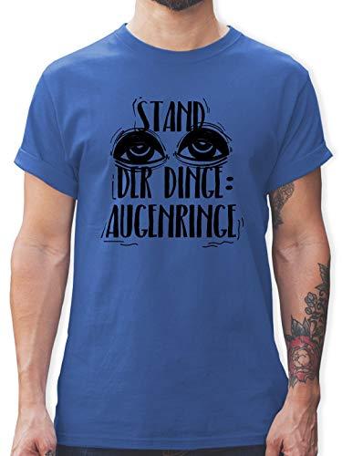 Festival - Stand der Dinge: Augenringe - schwarz - M - Royalblau - L190 - Tshirt Herren und Männer T-Shirts